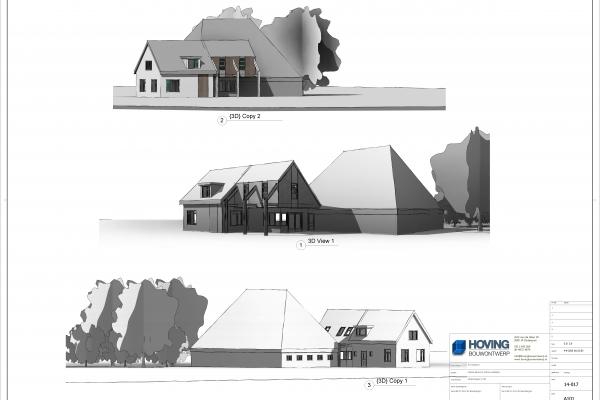 3D schetsontwerp van de opbouw.